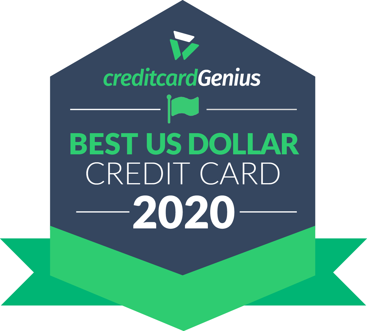 Best U.S. Dollar credit card in Canada for 2020 award seal