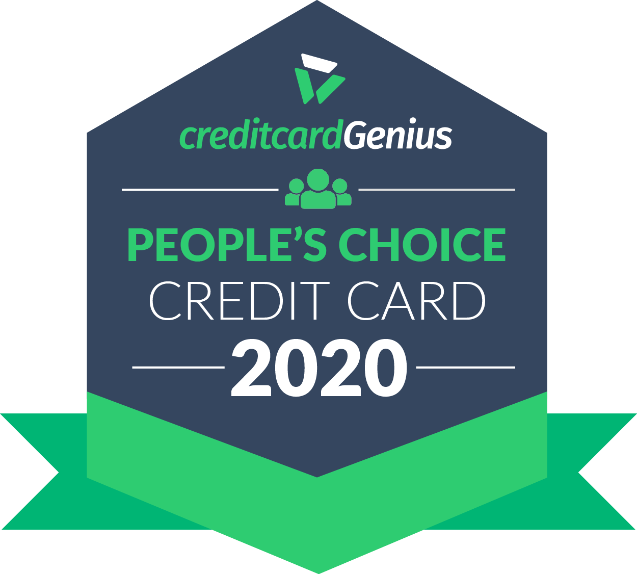 People's choice credit card in Canada for 2020 award seal