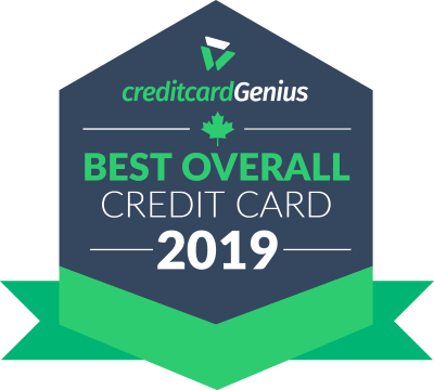 Best overall credit card in Canada for 2019 award seal