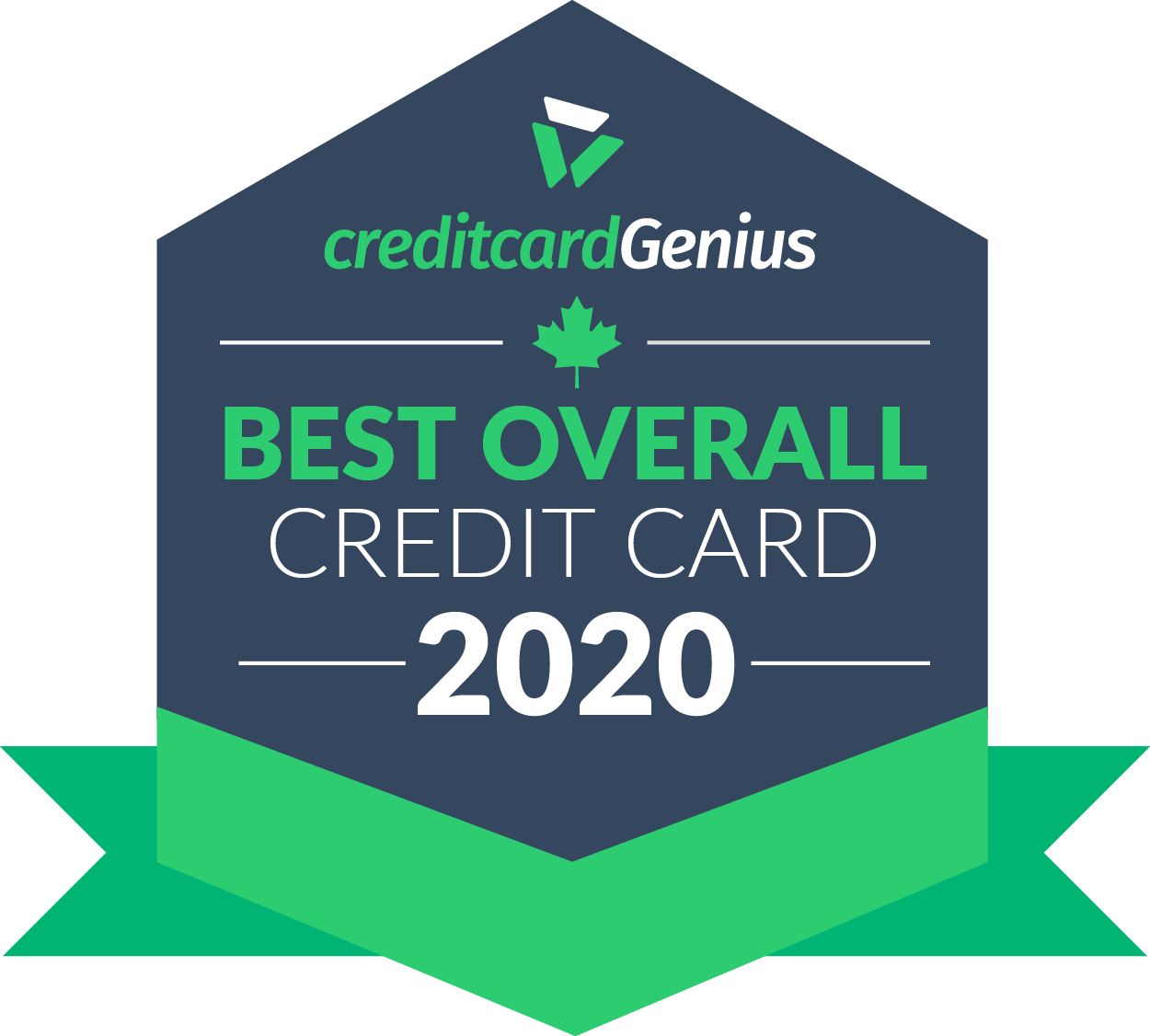 Best overall credit card in Canada for 2020 award seal