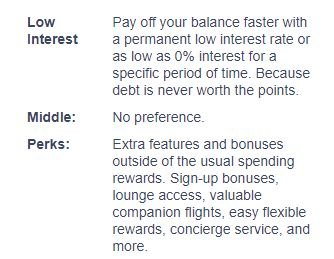 Low Interest vs Perks Slider pop up tutorial